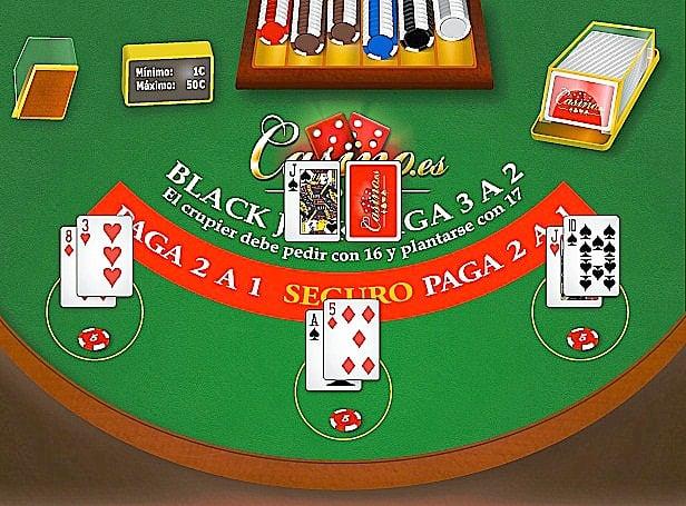 Valores de las cartas en el Blackjack